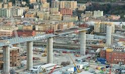 Construction of Renzo Piano-designed Genoa Bridge reaches milestone