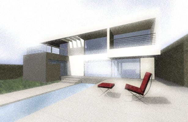 3D imagen from swimming pool