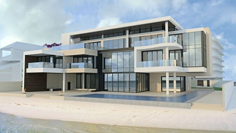 Almost ready to commence installation on this amazing oceanfront home in Albany, Nassau, Bahamas