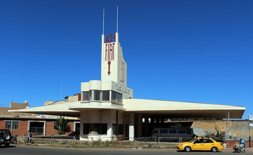 Fiat Tagliero Building in Asmara, Eritrea, by Futurist architect Giuseppe Pettazzi.