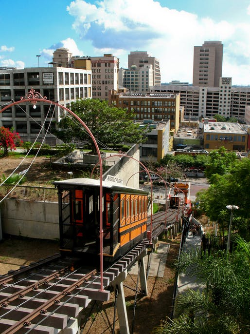 Angels Flight during a comeback in 2008. Image via Wikipedia