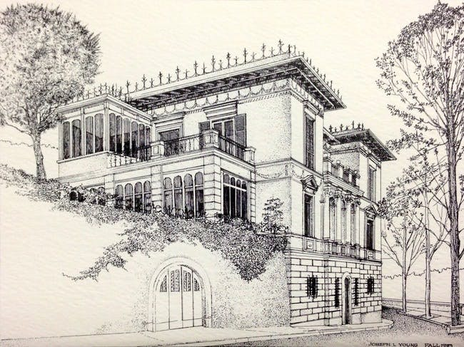 Clemson's Charles E. Daniel Center for Building Research and Urban Study, 'The Villa,' by Joe Young, 1993