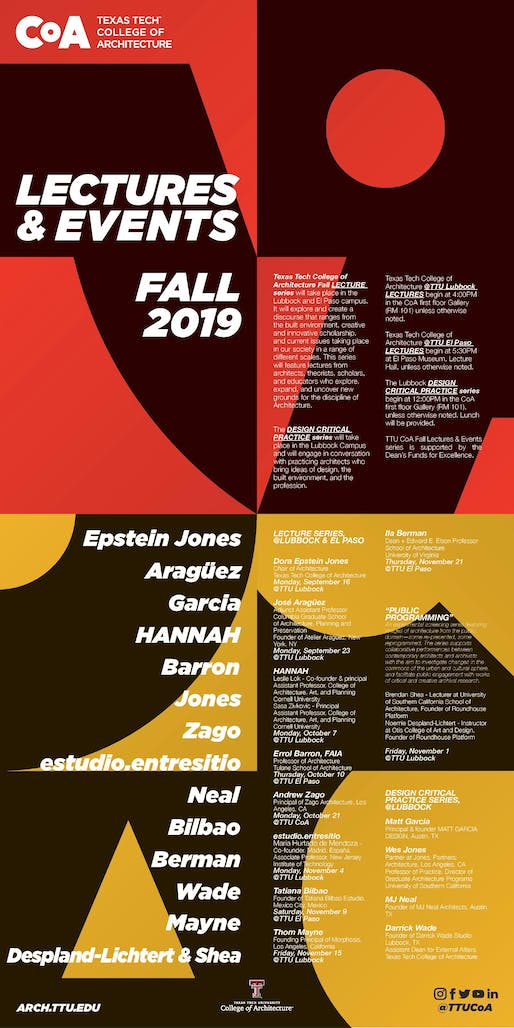 Poster courtesy of Texas Tech College of Architecture.
