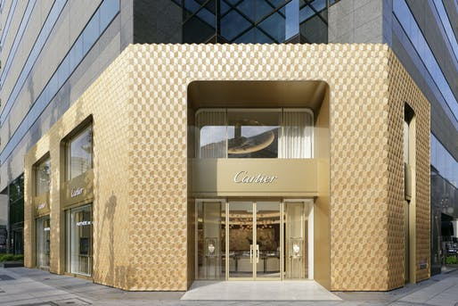 The new Cartier store in Osaka. Image courtesy KDa.