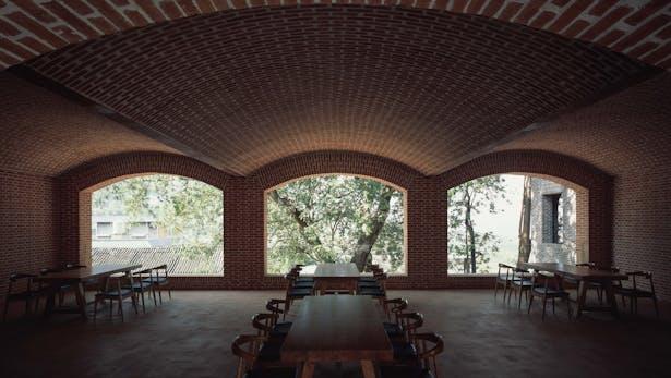 First floor café © Chen Hao