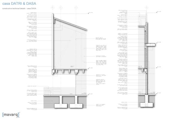 constructive technical details - casa DASA