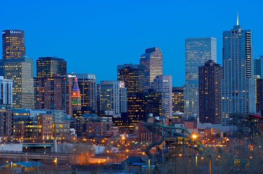 """The Denver skyline. Contractors are suing the city of Denver over alleged unconstitutional vaccine mandates. Image: Larry Johnson/<a href=""""https://www.flickr.com/photos/drljohnson/4280266430/"""">Flickr</a> (CC BY 2.0)"""
