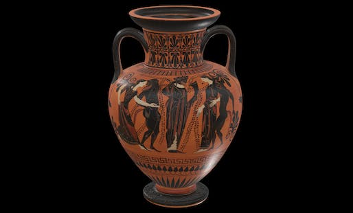 View of the 1970.16 Neck Amphora from the Cleveland Museum of Art. Image courtesy of the Cleveland Museum of Art.