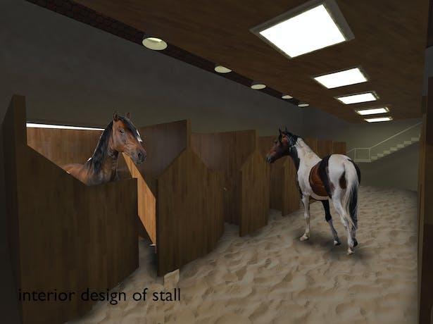 The interior design of fixed stalls