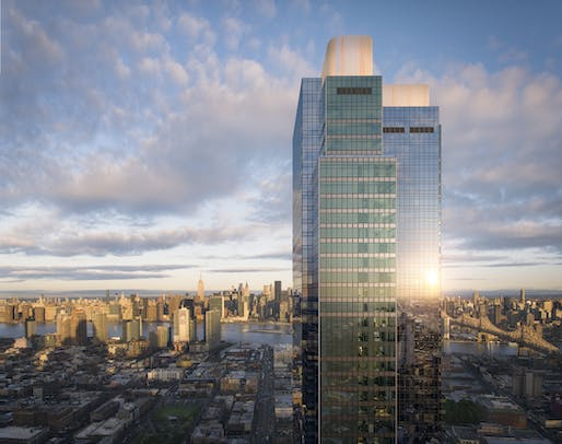 Skyline Tower is now Queens' tallest building. Image: Hill West Architects