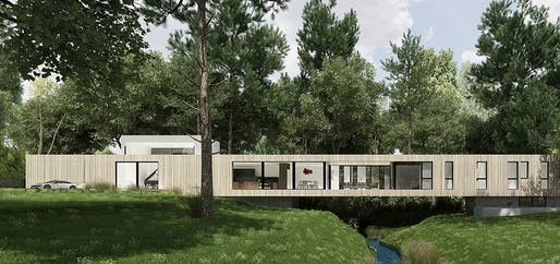 Bridge House rendering © Dan Brunn Architecture