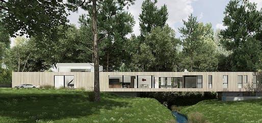 Bridge House rendering © Dan Brunn Architecture