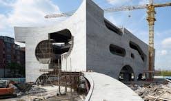 New construction photos of Steven Holl's Shanghai Cofco Cultural and Health Center