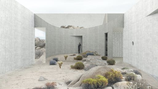 NEXT LA AWARD - MERIT: Para-Project, Pioneertown House, Pioneertown, CA.