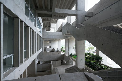 University Campus UTEC Lima by 2020 Pritzker Prize Laureates Yvonne Farrell and Shelley McNamara. Image courtesy of Iwan Baan