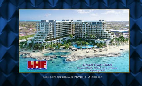 Meta Luxury Cinema for Grand Hyatt Hotel Pageant Beach Grand Cayman Island, delayed completion 2023
