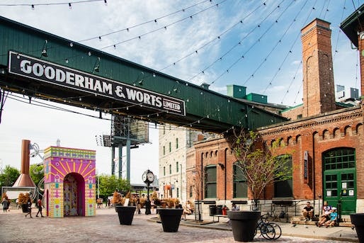 ARc de Blob, a winning installation in the 2021 Winter Stations design competition on display in Toronto's Distillery District. Photo: Khristel Stecher
