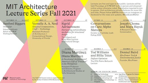 Lecture poster courtesy of MIT Architecture