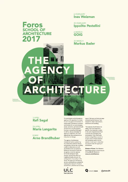 Poster courtesy of UIC Barcelona School of Architecture.