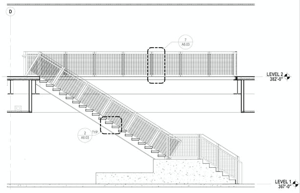 Section of Monumental Staircase