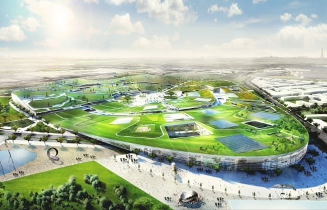 BIG's winning design from this year's EuropaCity competition