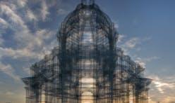 First photos of Edoardo Tresoldi's wire mesh cathedrals at Coachella