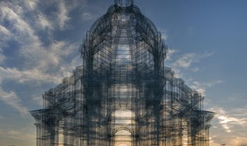 First photos of Edoardo Tresoldi's wire mesh cathedrals at Coachella