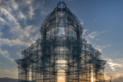 """Etherea"" by Edoardo Tresoldi at Coachella 2018 © Roberto Conte"
