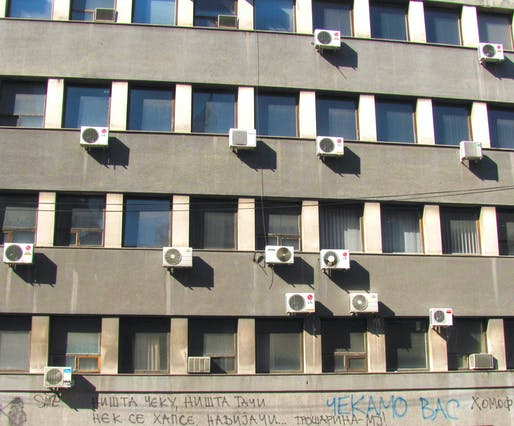 Air conditioning units in Nis, Serbia. Image: Tiia Monto/WikiCommons.