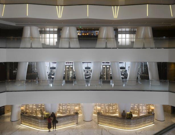 Guangzhou International Finance Center - Interior view