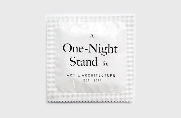 Condoms were used as promotional material for the sexual escapade-themed event, 'One-Night Stand for Art and Architecture.' Credit: One-Night Stand LA via Instagram