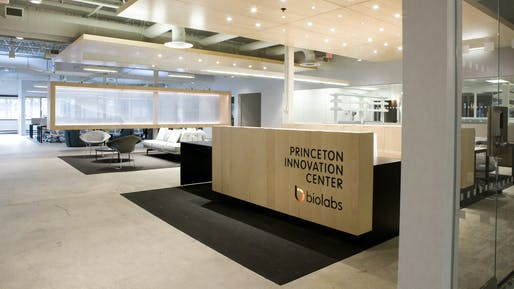 Princeton Innovation Center Biolabs. Courtesy Gensler