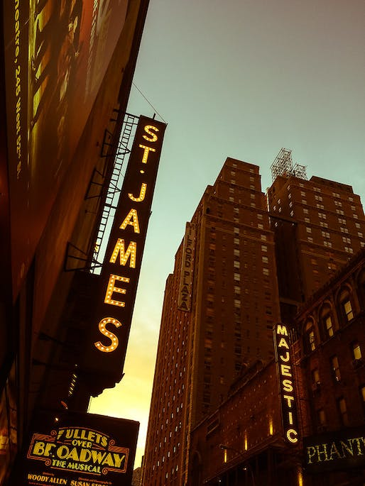 Signage of St. James theater in New York City. Photo: Davis Staedtler/Flickr.