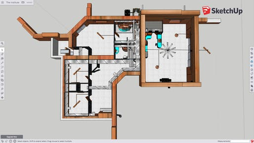 Floor plan with appliances and fixtures