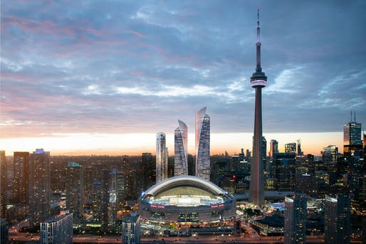 Pelli Clarke Pelli and developers Oxford Properties Group will reshape Toronto's skyline. Image courtesy of Oxford Properties.