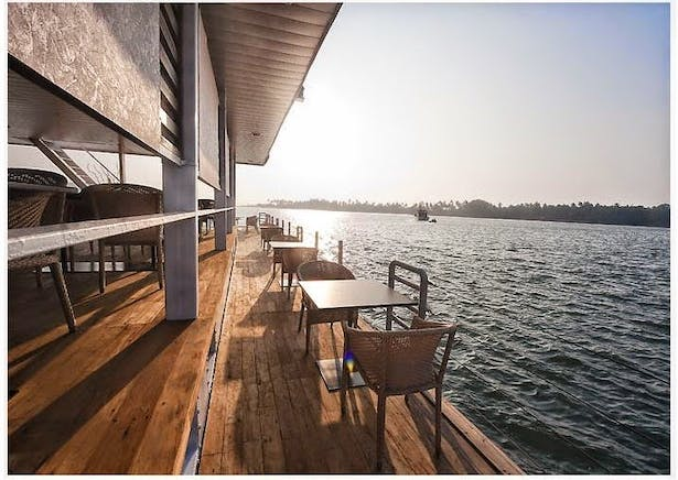 Another external view of the Floating Restaurant at Goa