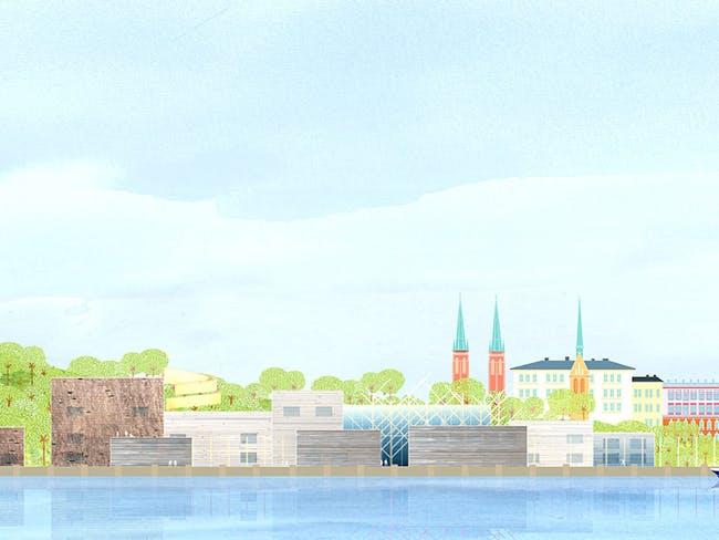 Guggenheim Helsinki Stage One entry via threadkilla
