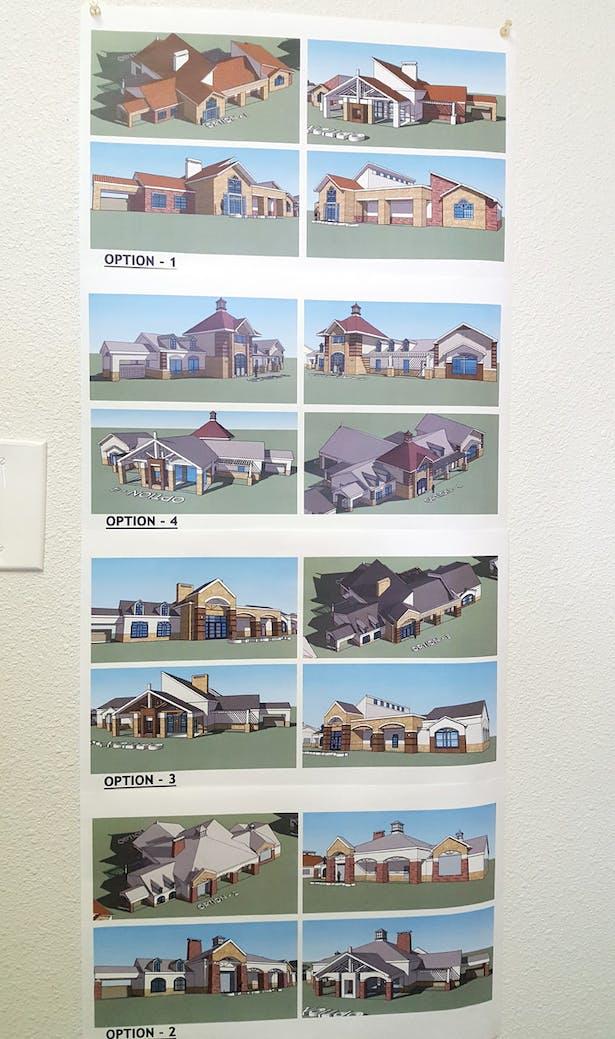 SketchUp sample study of club house for Park Legado Apartment