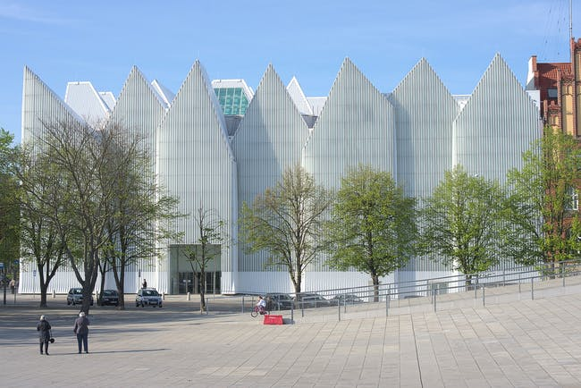 Szczecin Philharmonic Hall, view from plac Solidarności © DrKssn : Wikimedia Commons
