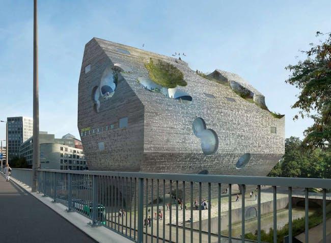 Exterior rendering (Image: HHF and BURCKHARDT+PARTNER)