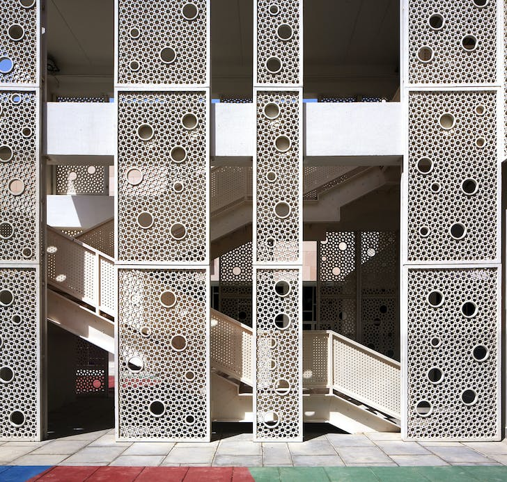 Detail of Victory Heights Primary School by r+d studio