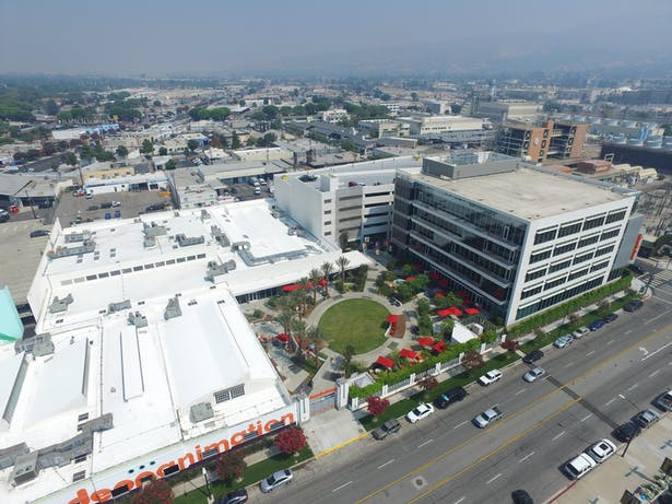 Aerial view of the campus.