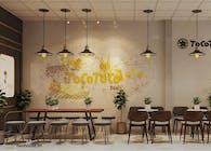 Mẫu Thiết kế nội thất quán trà sữa Tocotoco tphcm