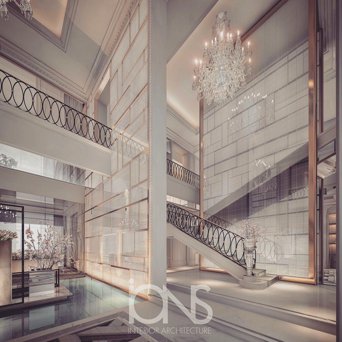 Ions Interior Design Dubai villa design – entrance lobby and foyer interior design