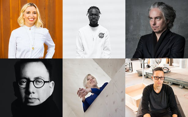 Clockwise from top left: Natasha Case, Iddris Sandu, Tom Wiscombe, V. Mitch McEwen, Jennifer Bonner, and Refik Anadol.
