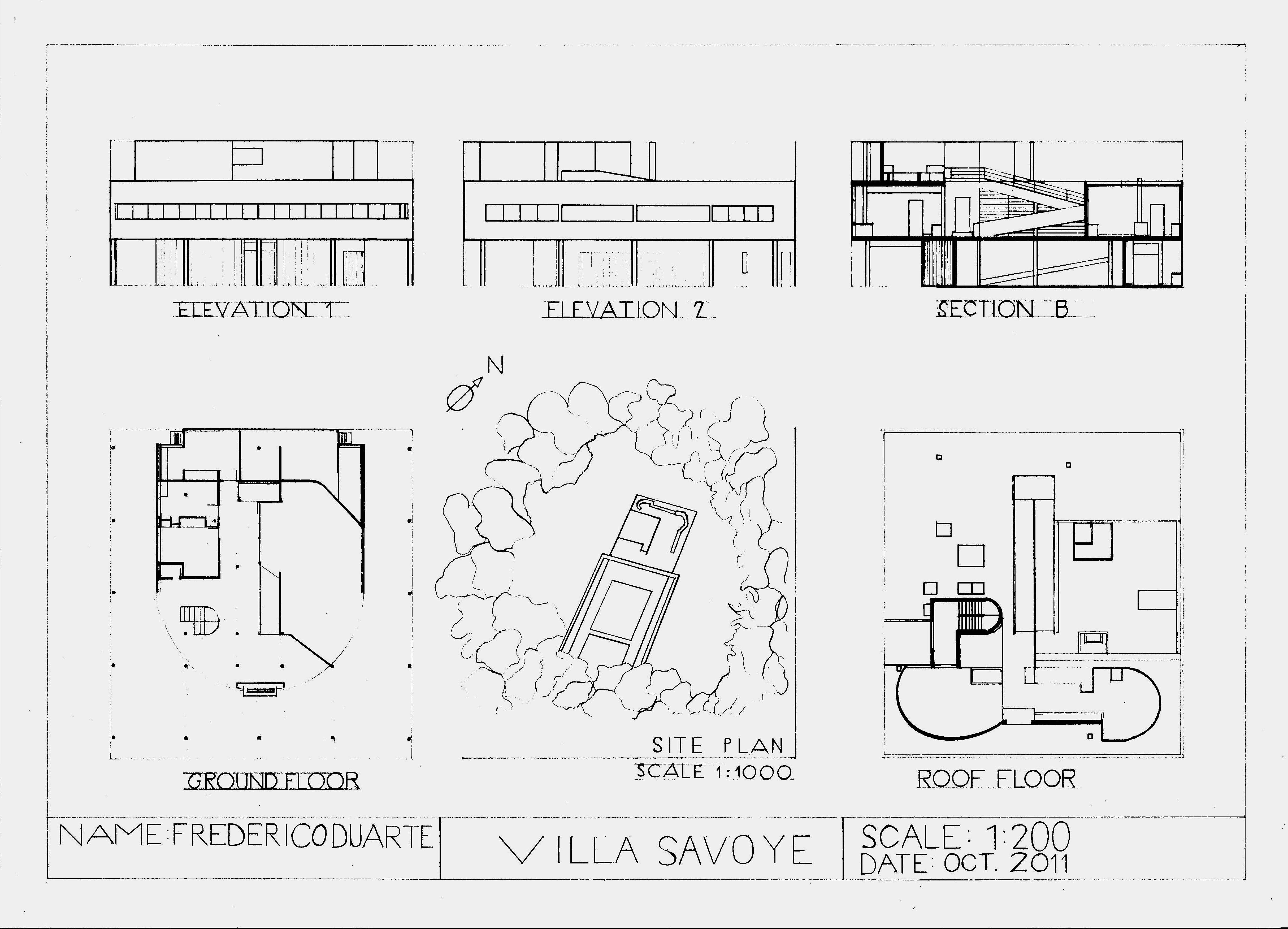villa savoye  le corbusier  1st year architecture