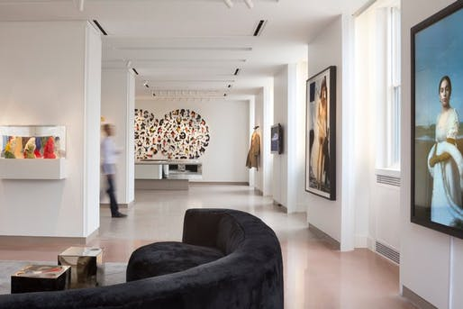 Interior view of the Deborah Berke-designed 21c Museum Hotel in Durham, NC. (Image via nytimes.com)