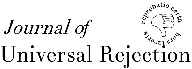 Journal of Universal Rejection   News   Archinect