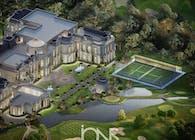 Mansion in Prestigious Architecture and Landscape Design