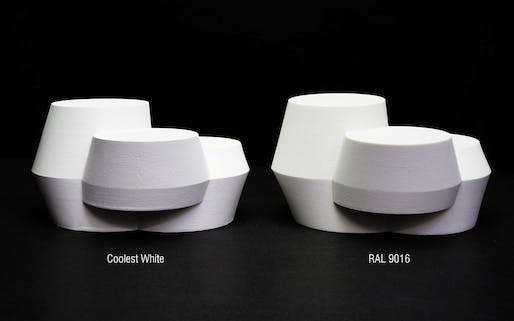 "UNStudio's ""The Coolest White"" paint comparison, Image © UNStudio"